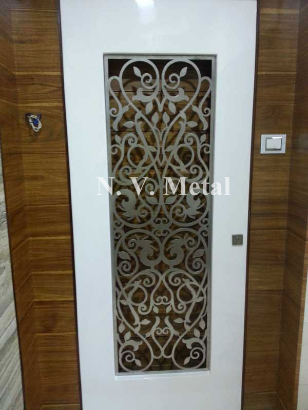 Modern door grill designs for Door design cnc